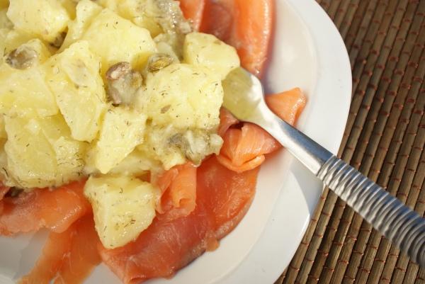 ensalada papas salmón